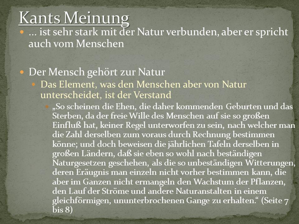 ... ist sehr stark mit der Natur verbunden, aber er spricht auch vom Menschen Der Mensch gehört zur Natur Das Element, was den Menschen aber von Natur