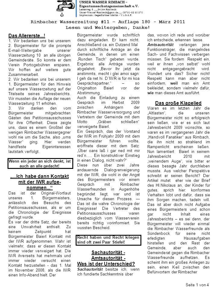 UNSER WASSER RIMBACH – Eigentumsschutzgemeinschaft e.V.