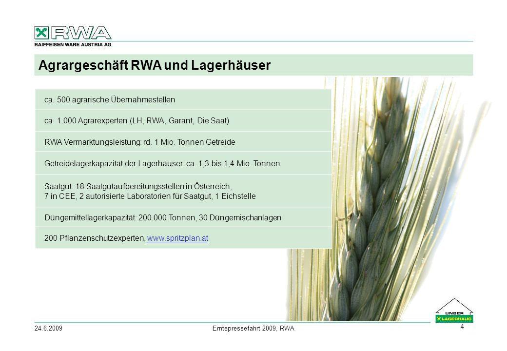 24.6.2009Erntepressefahrt 2009, RWA 4 Agrargeschäft RWA und Lagerhäuser ca.
