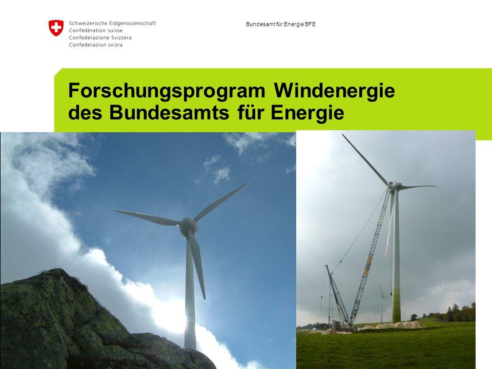 Bundesamt für Energie BFE Forschungsprogram Windenergie des Bundesamts für Energie September 23, 20März 2009, Robert Horbaty, ENCO AG08; K.