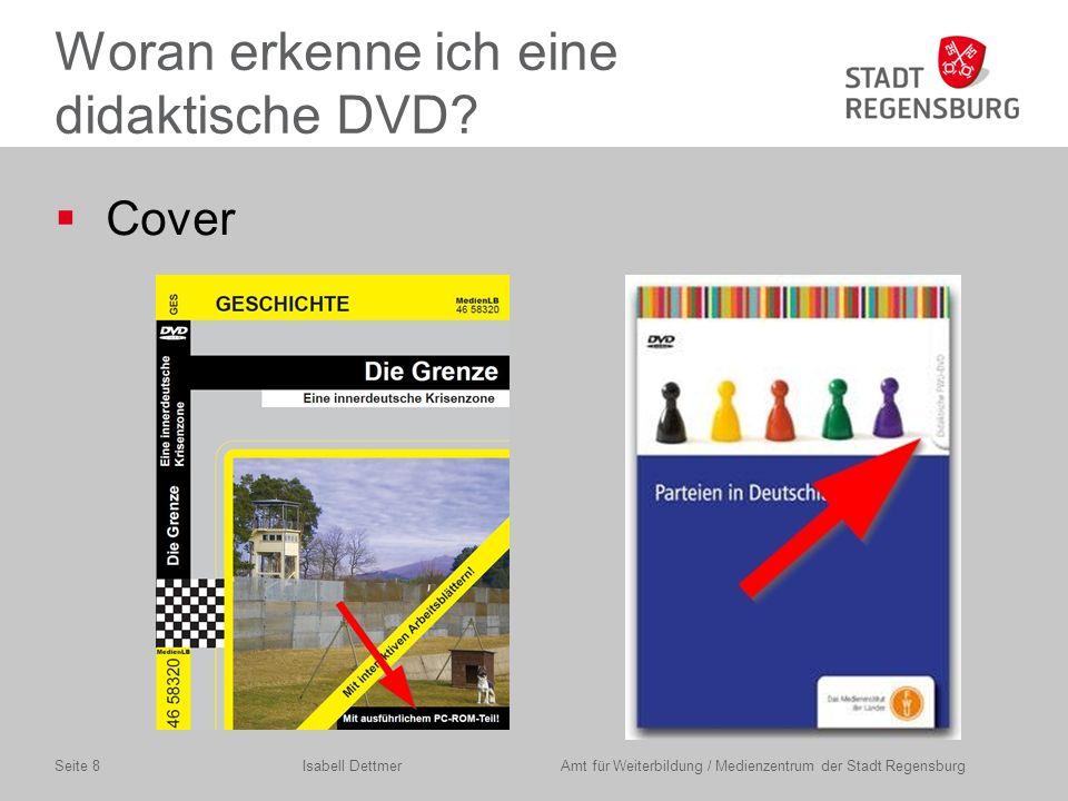 Such und Ausleihverfahren Isabell Dettmer Amt für Weiterbildung / Medienzentrum der Stadt RegensburgSeite 9