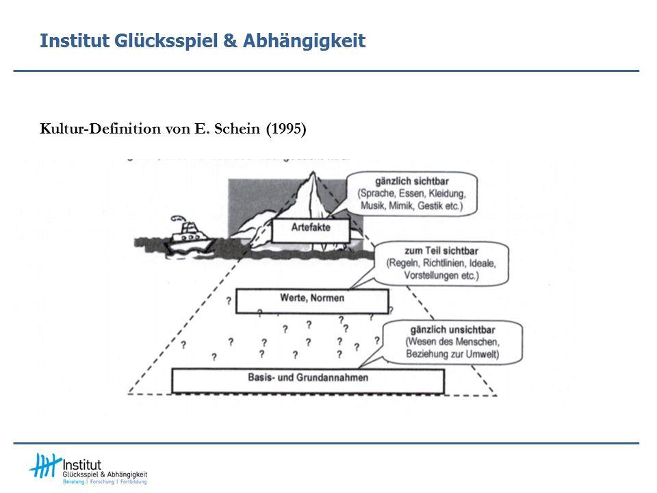 Institut Glücksspiel & Abhängigkeit Kultur-Definition von E. Schein (1995)