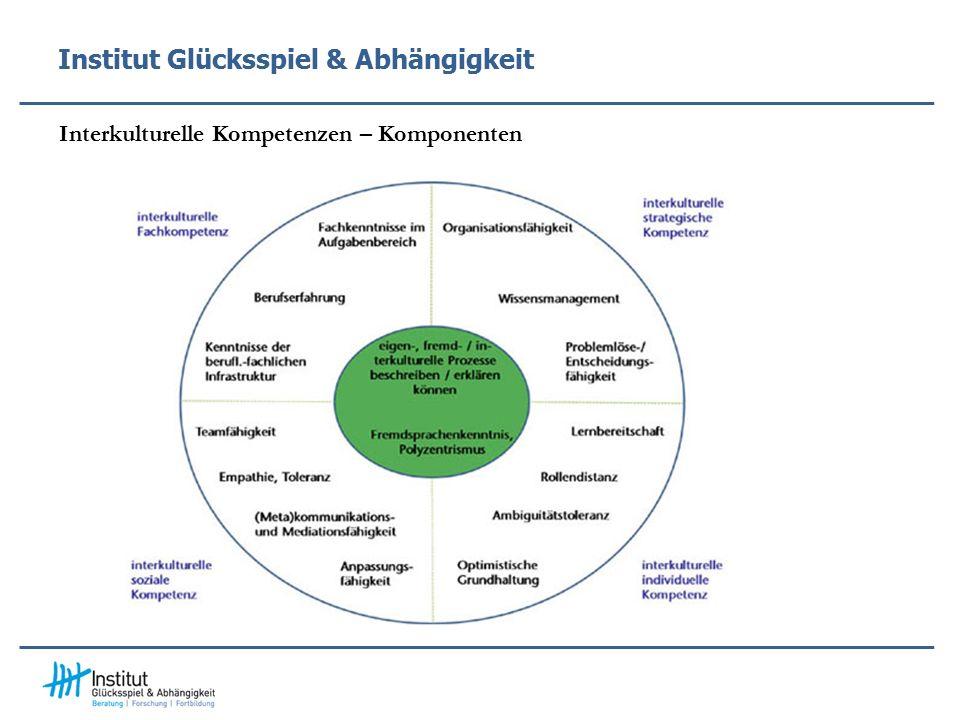 Institut Glücksspiel & Abhängigkeit Interkulturelle Kompetenzen – Komponenten