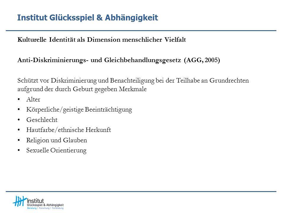 Institut Glücksspiel & Abhängigkeit Kultur-Dimension: Beziehung vs.
