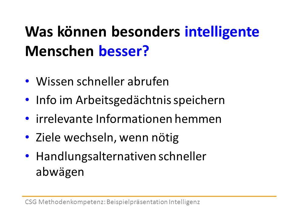 Was können besonders intelligente Menschen besser.
