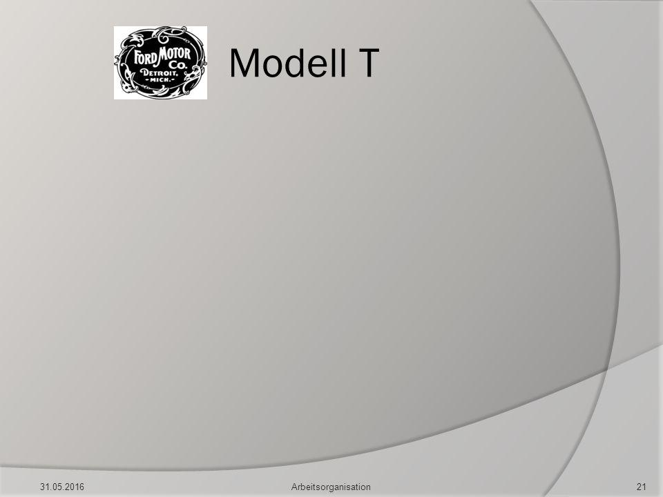 Modell T 31.05.2016Arbeitsorganisation21