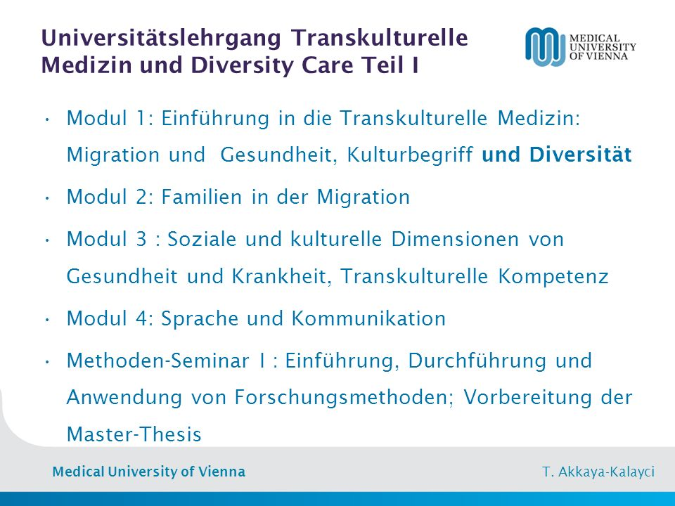 Medical University of Vienna T.