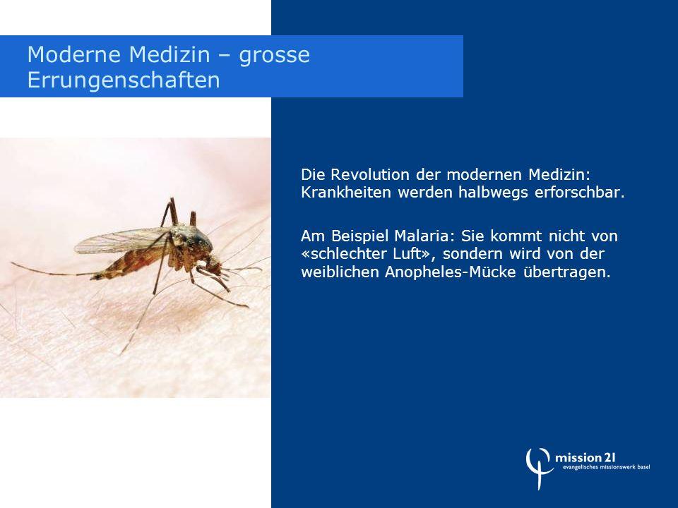 Die Revolution der modernen Medizin: Krankheiten werden halbwegs erforschbar.