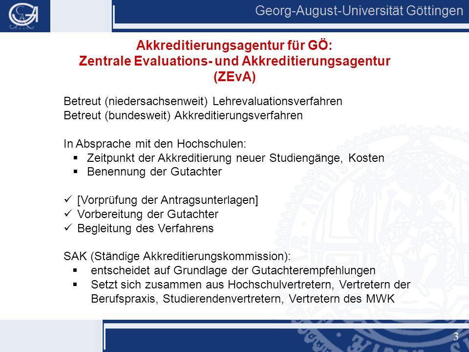 4 Georg-August-Universität Göttingen Programmakkreditierung, d.h.
