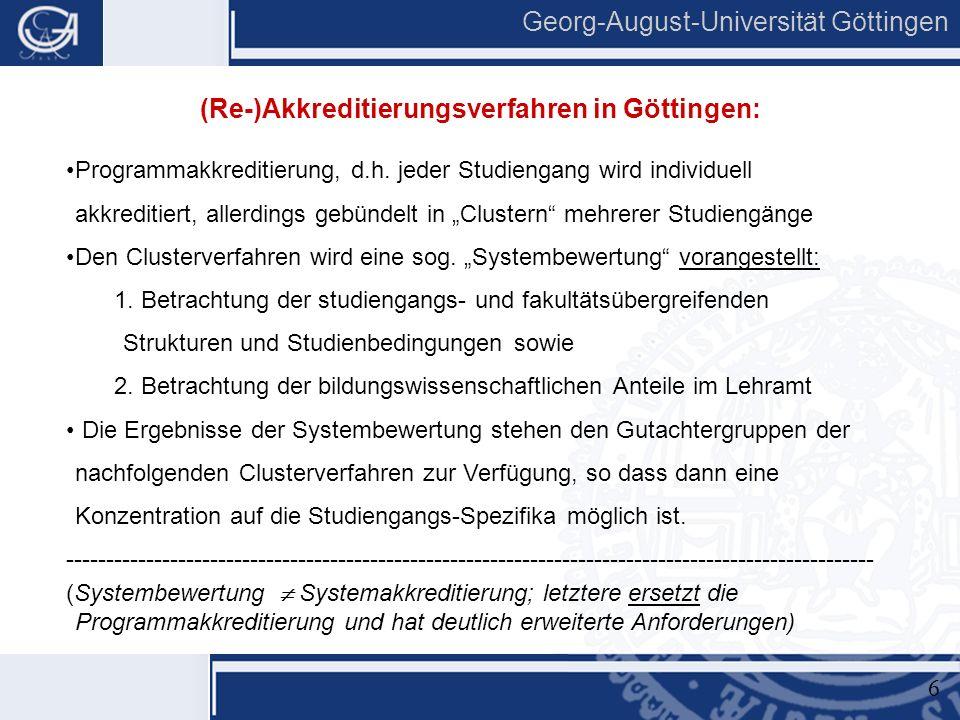 """5 Georg-August-Universität Göttingen  Antragsstellung für alle geplanten Studiengänge (""""ggf."""