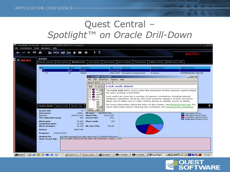 Quest Central – Spotlight™ on Oracle Drill-Down