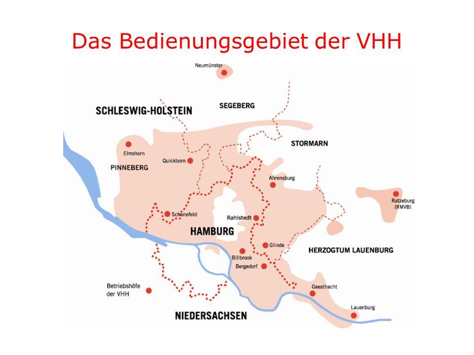 Das Bedienungsgebiet der VHH