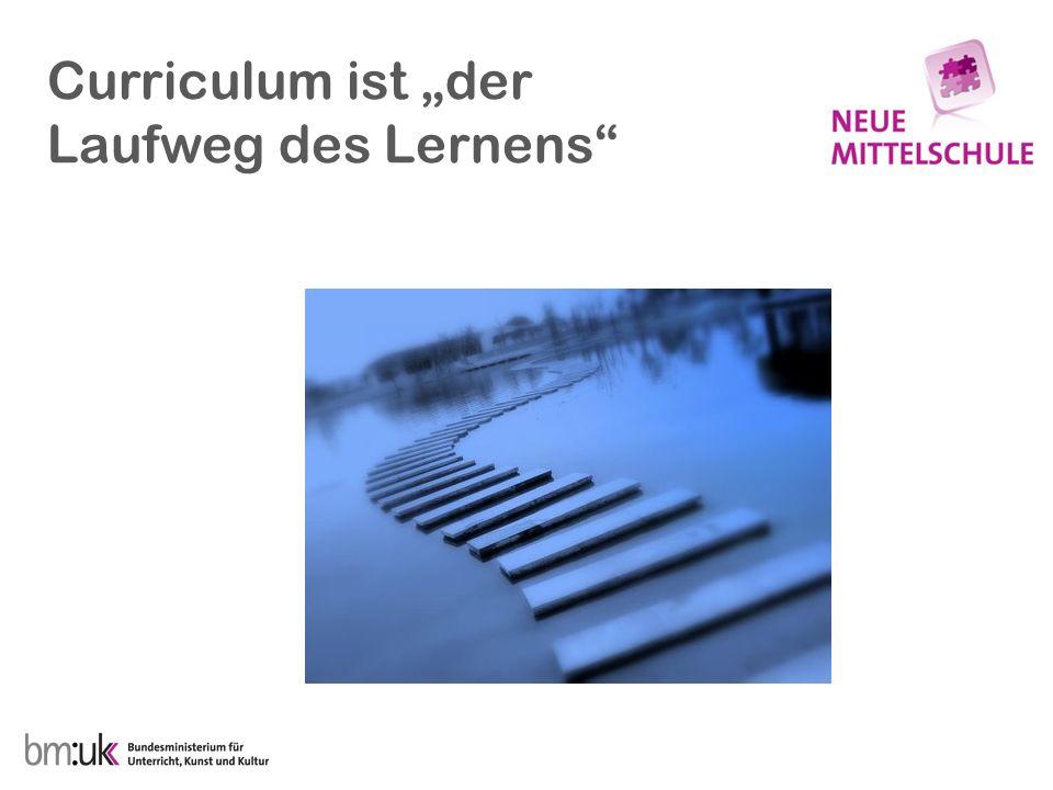 """Curriculum ist """"der Laufweg des Lernens"""