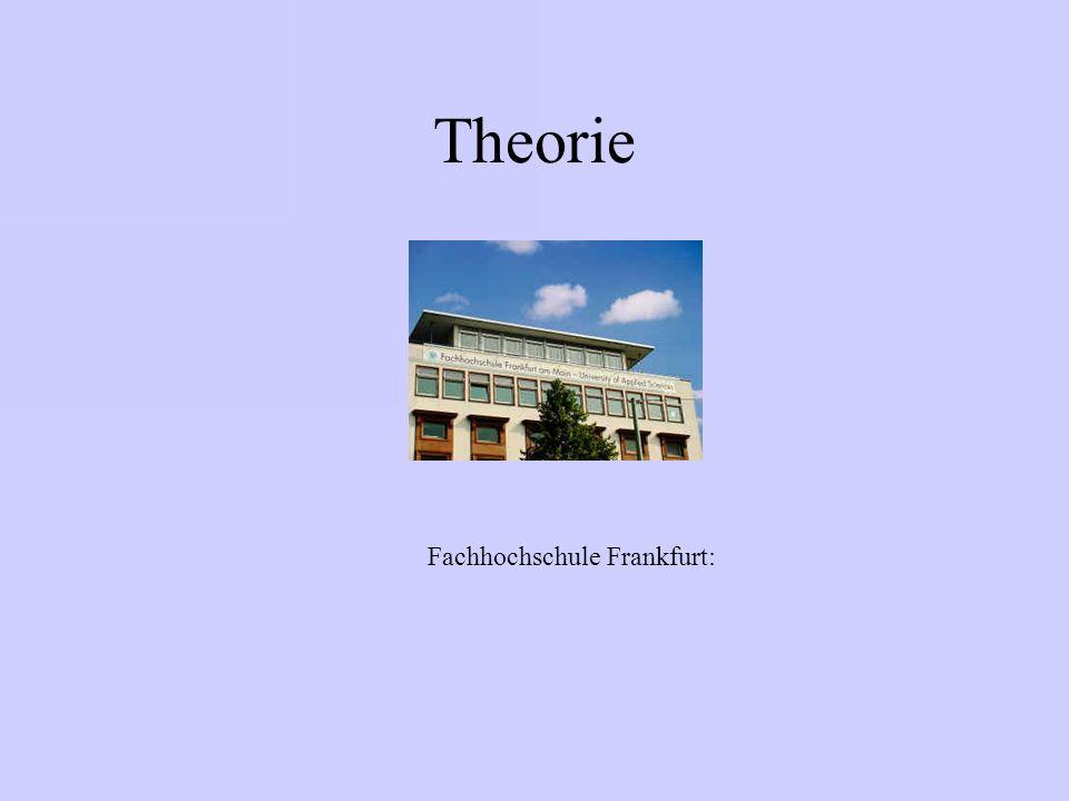 Theorie Fachhochschule Frankfurt: