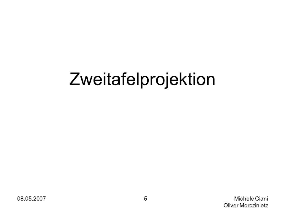 08.05.2007 Michele Ciani Oliver Morczinietz 5 Zweitafelprojektion