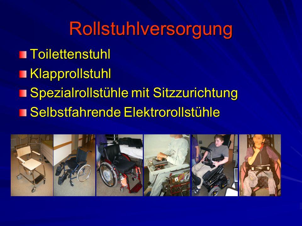 Rollstuhlversorgung ToilettenstuhlKlapprollstuhl Spezialrollstühle mit Sitzzurichtung Selbstfahrende Elektrorollstühle