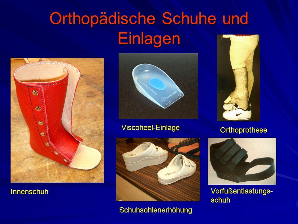 Orthopädische Schuhe und Einlagen Innenschuh Viscoheel-Einlage Schuhsohlenerhöhung Orthoprothese Vorfußentlastungs- schuh