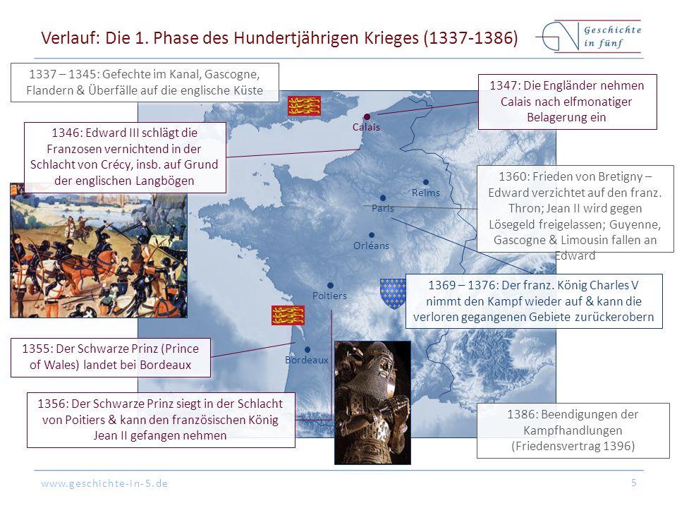 www.geschichte-in-5.de BordeauxOrléansPoitiersParisReims Verlauf: Die 2.