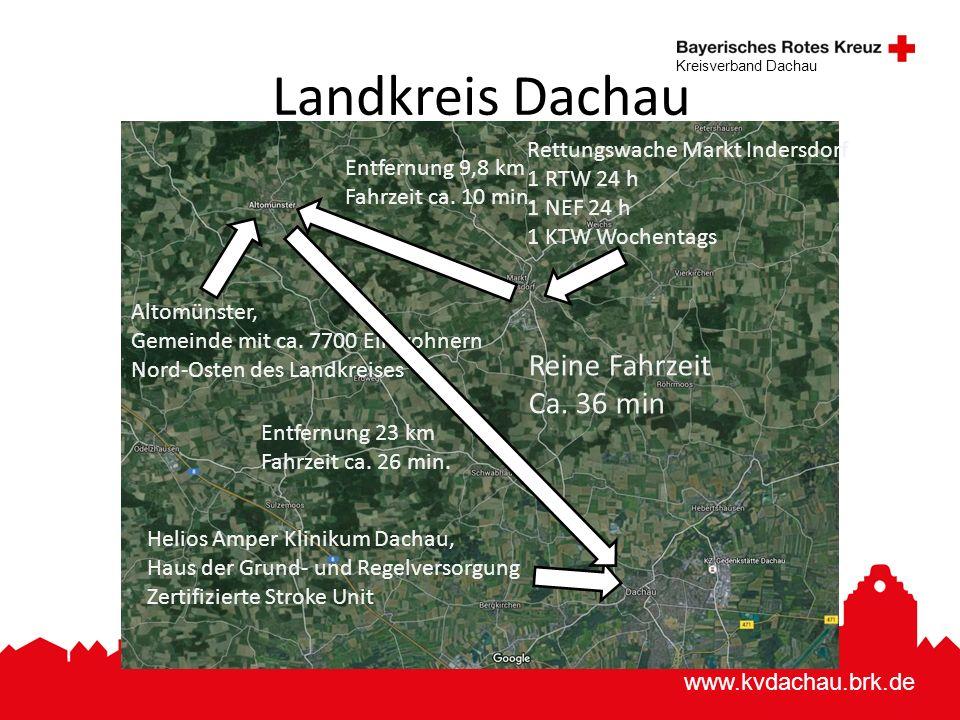www.kvdachau.brk.de Kreisverband Dachau Landkreis Dachau Altomünster, Gemeinde mit ca. 7700 Einwohnern Nord-Osten des Landkreises Helios Amper Kliniku