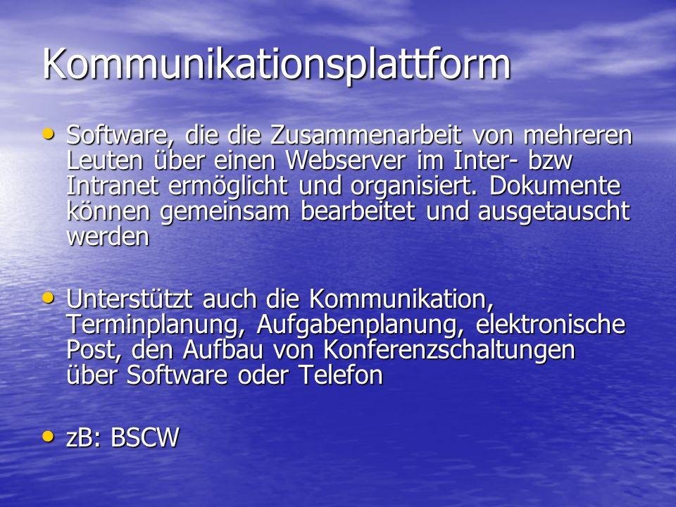 Abb. Kommunikationsplattform BSCW