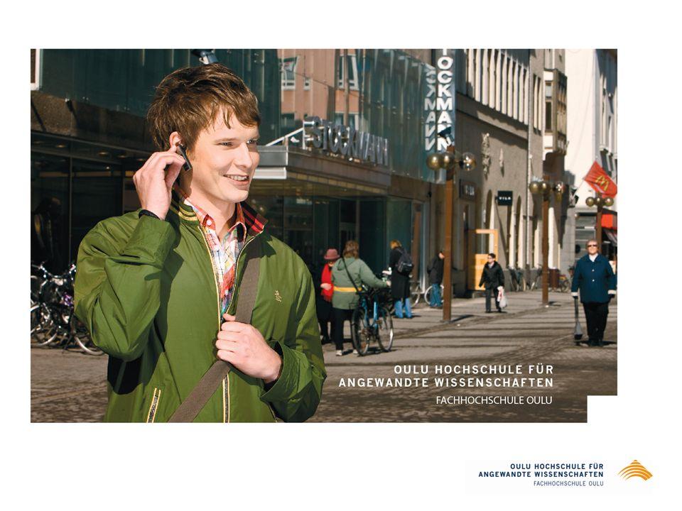 Oulu Hochschule für angewandte Wissenschaften – 9.000 Studenten inklusive 230 internationale Bachelor- und Master-Studenten und 230 Austauschstudenten aus ca 50 Ländern – 1.800 Studienanfänger pro Jahr – 1.400 Studenten in der Erwachsenenbildung – 1.200 Absolventen im Jahr – 600 Studenten an der Fakultät für Berufslehrerausbildung 200 Absolventen jährlich (pädagogische Studien) – Beschäftigungsquote der Absolventen 70%