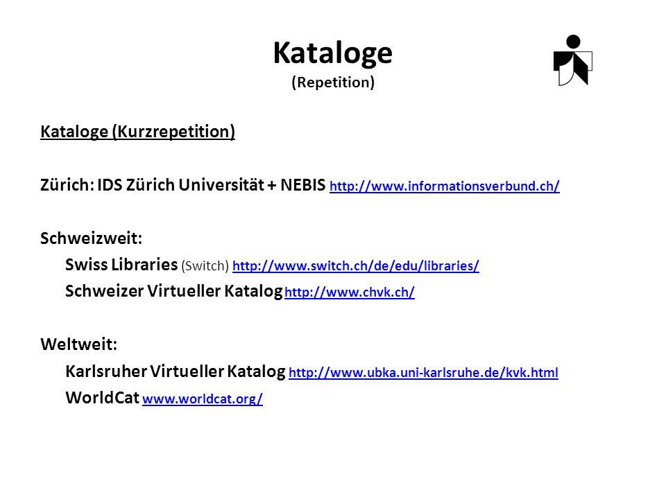 Datenbanken (Repetition) Bibliographische Datenbanken (Kataloge) Faktendatenbanken (Statistische Quellen) Abstract Datenbanken (Sociological Abstract) Volltextdatenbanken (LexisNexis, Source OECD) Mischform (WISO Abstract and Volltext, SocIndex with Fulltext) Referenzdatenbanken (Web of Science) Quelle: http://www.suz.uzh.ch/bibliothek/news/Rechercheschulung_HS2009.pdf [1.3.2010]http://www.suz.uzh.ch/bibliothek/news/Rechercheschulung_HS2009.pdf Einstieg über IDS Recherche Portal DEMO: Personalisieren Thesaurus