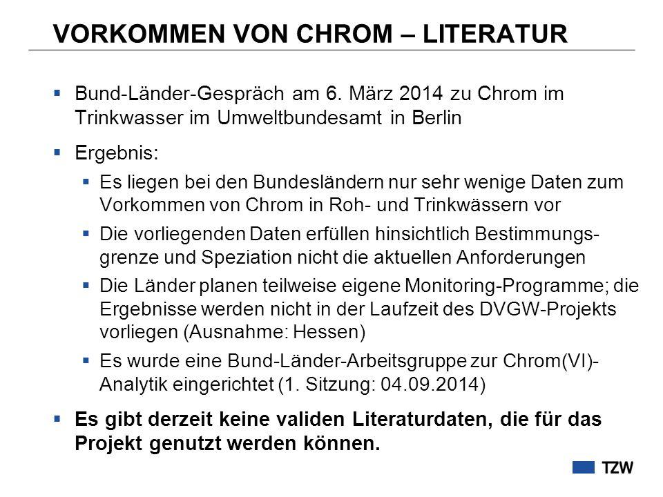 VORKOMMEN VON CHROM – LITERATUR  Bund-Länder-Gespräch am 6.