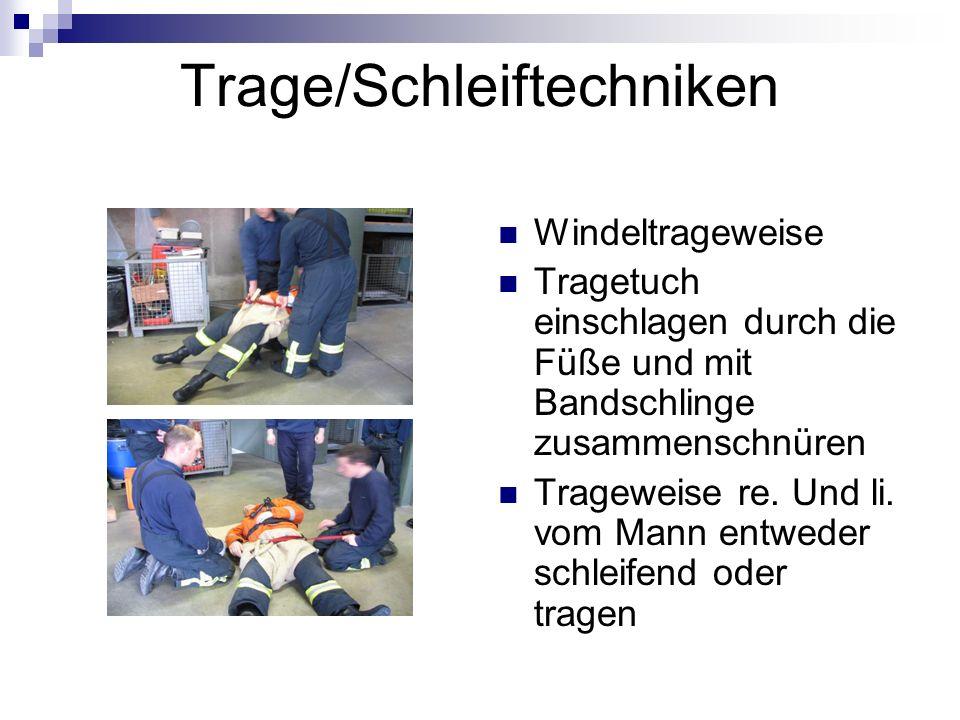 Trage/Schleiftechniken Windeltrageweise Tragetuch einschlagen durch die Füße und mit Bandschlinge zusammenschnüren Trageweise re.