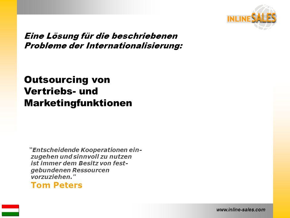"""www.inline-sales.com """"Entscheidende Kooperationen ein- zugehen und sinnvoll zu nutzen ist immer dem Besitz von fest- gebundenen Ressourcen vorzuziehen"""