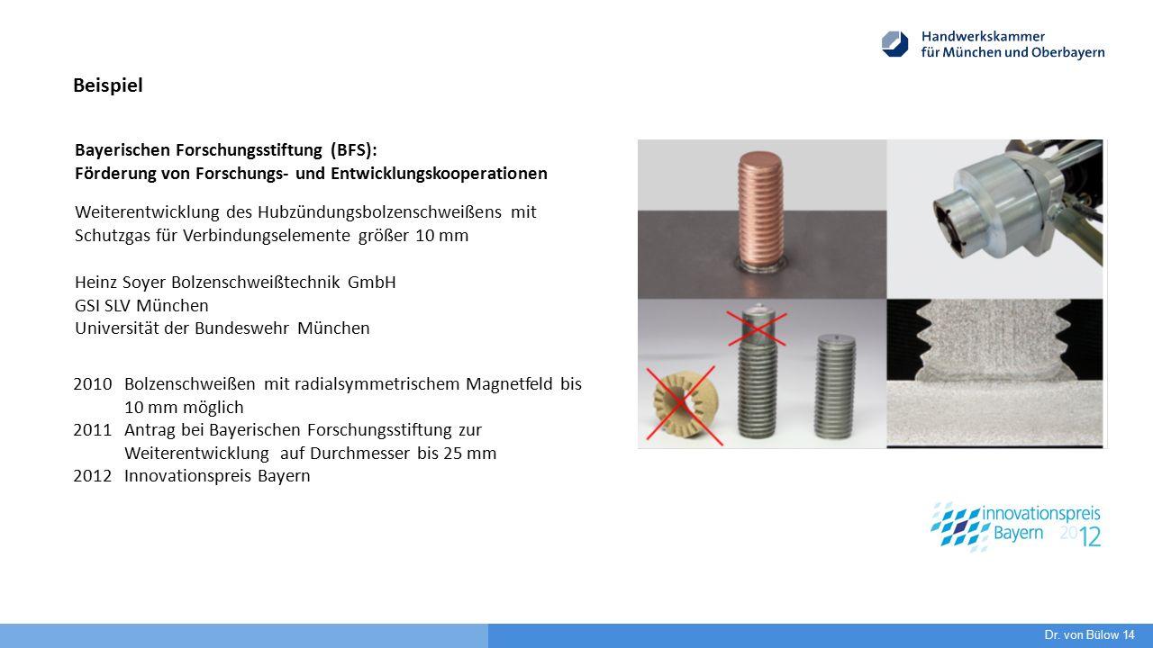 Weiterentwicklung des Hubzündungsbolzenschweißens mit Schutzgas für Verbindungselemente größer 10 mm Heinz Soyer Bolzenschweißtechnik GmbH GSI SLV Mün