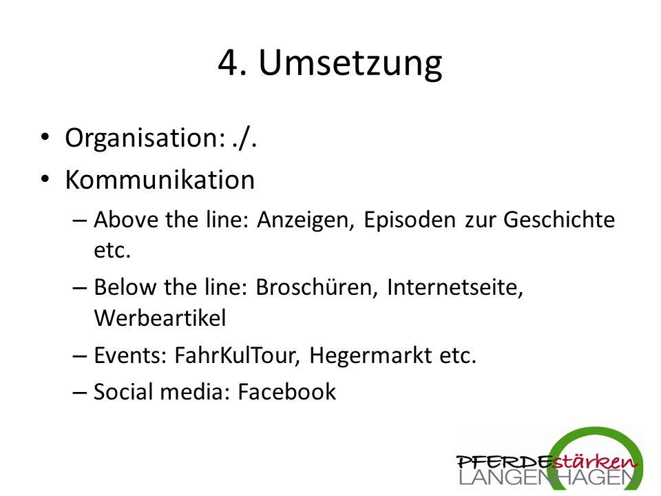 4. Umsetzung Organisation:./.