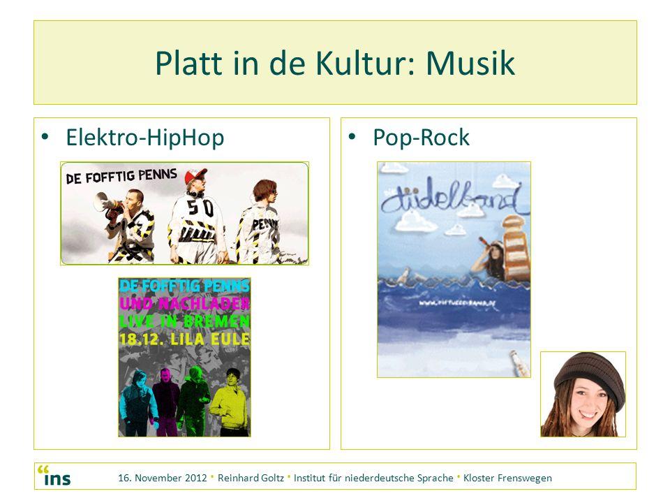 Platt in de Kultur: Musik Elektro-HipHop Pop-Rock