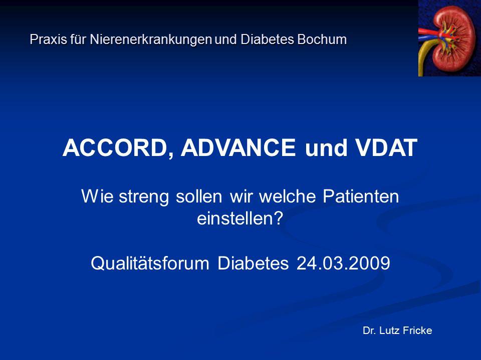 VDAT Hypoglycemic Episodes Duckworth W et al. N Engl J Med 2009;360:129-139