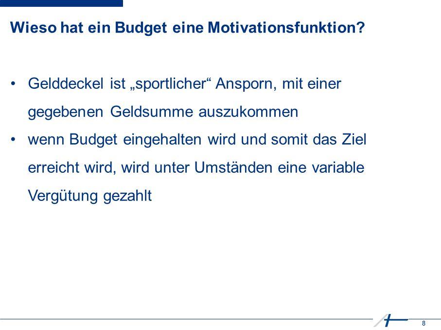 8 Wieso hat ein Budget eine Motivationsfunktion.