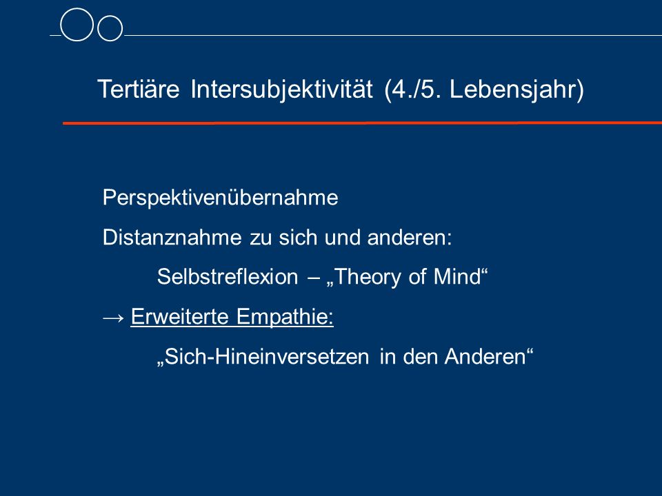 Tertiäre Intersubjektivität (4./5.