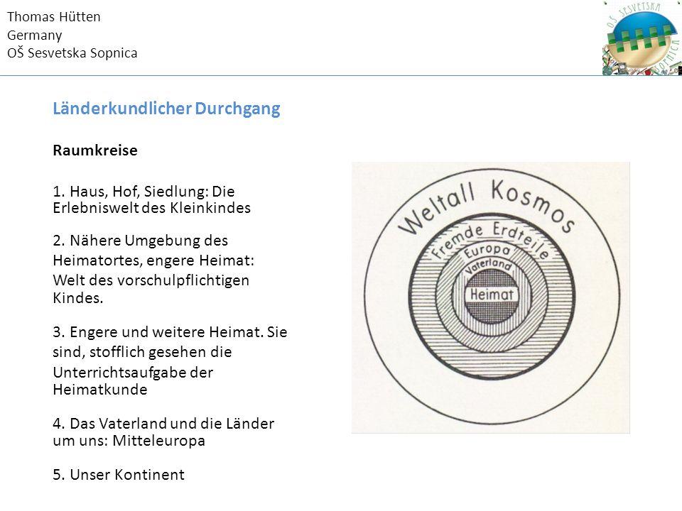 Thomas Hütten Germany OŠ Sesvetska Sopnica Länderkundlicher Durchgang Raumkreise 1.
