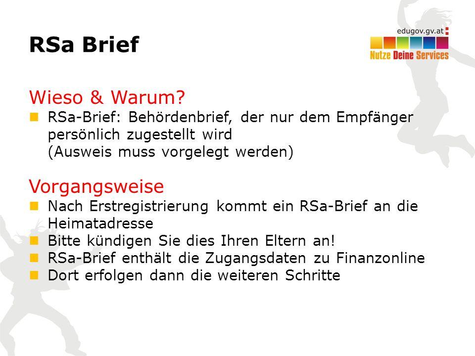 RSa Brief Wieso & Warum.