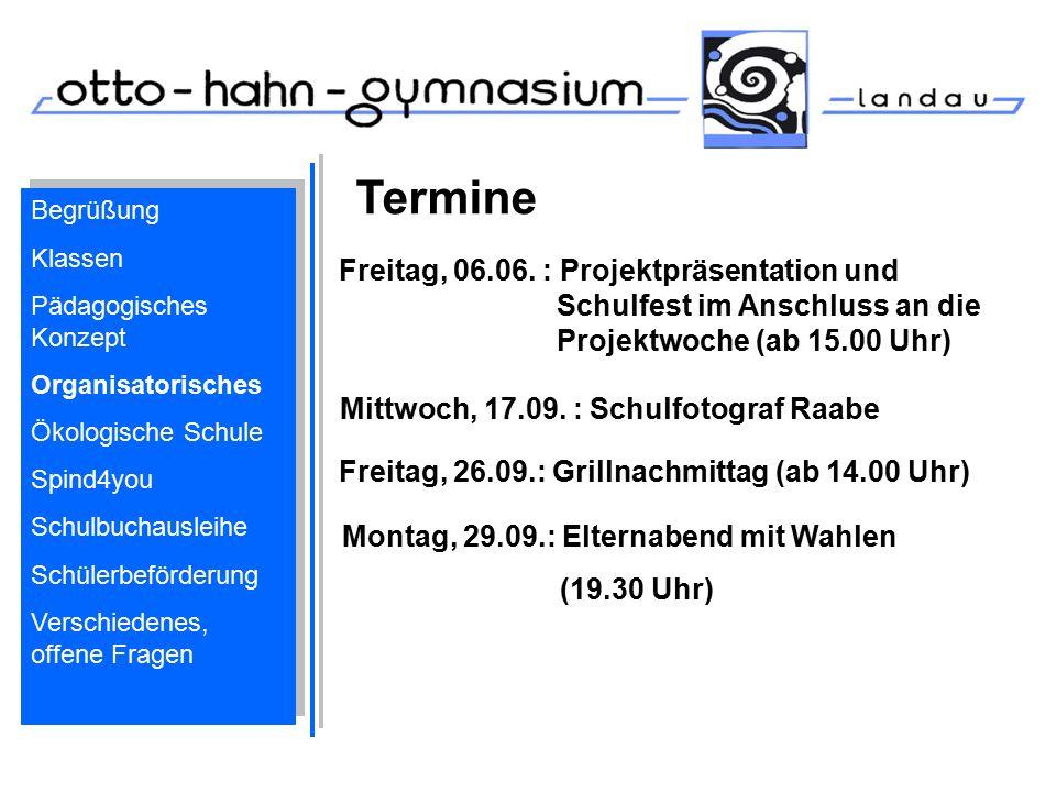 Termine Freitag, 26.09.: Grillnachmittag (ab 14.00 Uhr) Montag, 29.09.: Elternabend mit Wahlen (19.30 Uhr) Mittwoch, 17.09. : Schulfotograf Raabe Frei