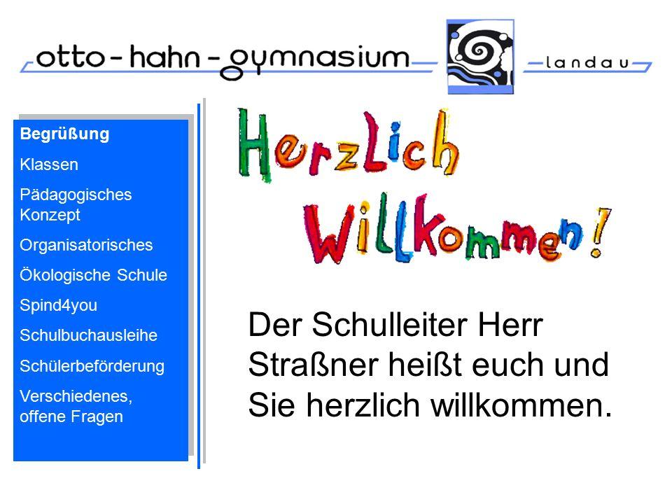 Begrüßung Klassen Pädagogisches Konzept Organisatorisches Ökologische Schule Spind4you Schulbuchausleihe Schülerbeförderung Verschiedenes, offene Frag