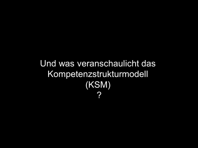 Und was veranschaulicht das Kompetenzstrukturmodell (KSM)