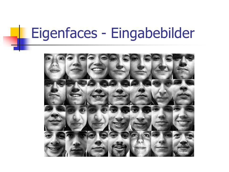 Eigenfaces - Eingabebilder