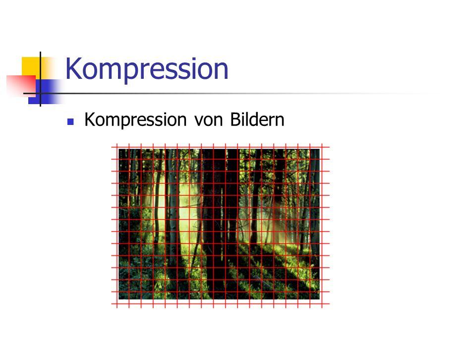 Kompression Kompression von Bildern