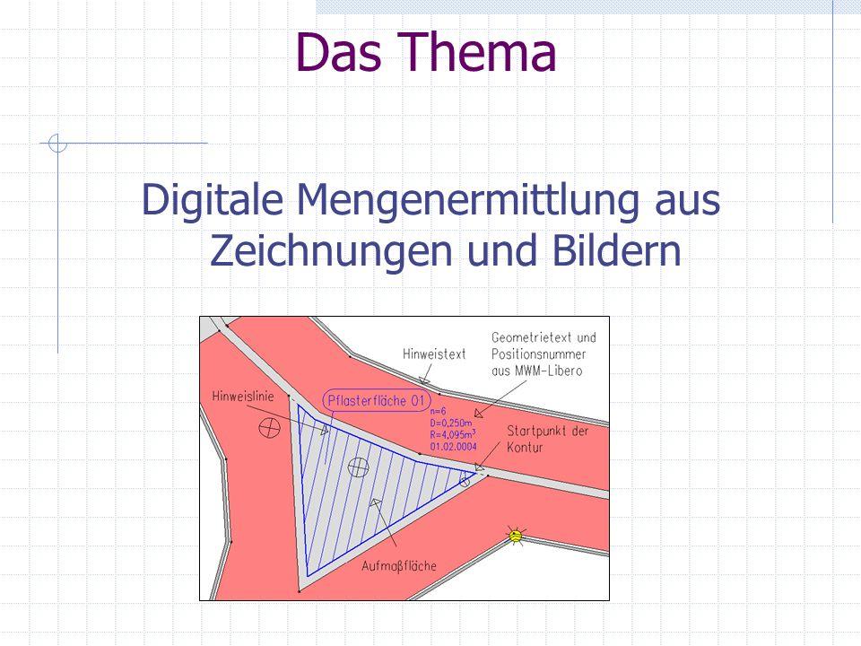Das Thema Digitale Mengenermittlung aus Zeichnungen und Bildern