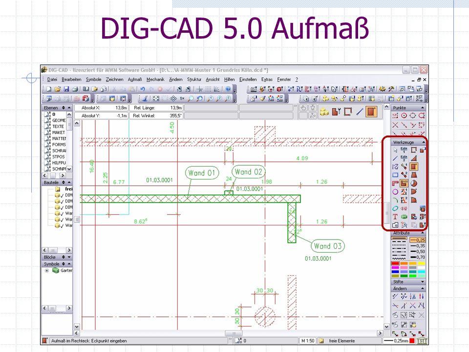DIG-CAD 5.0 Aufmaß