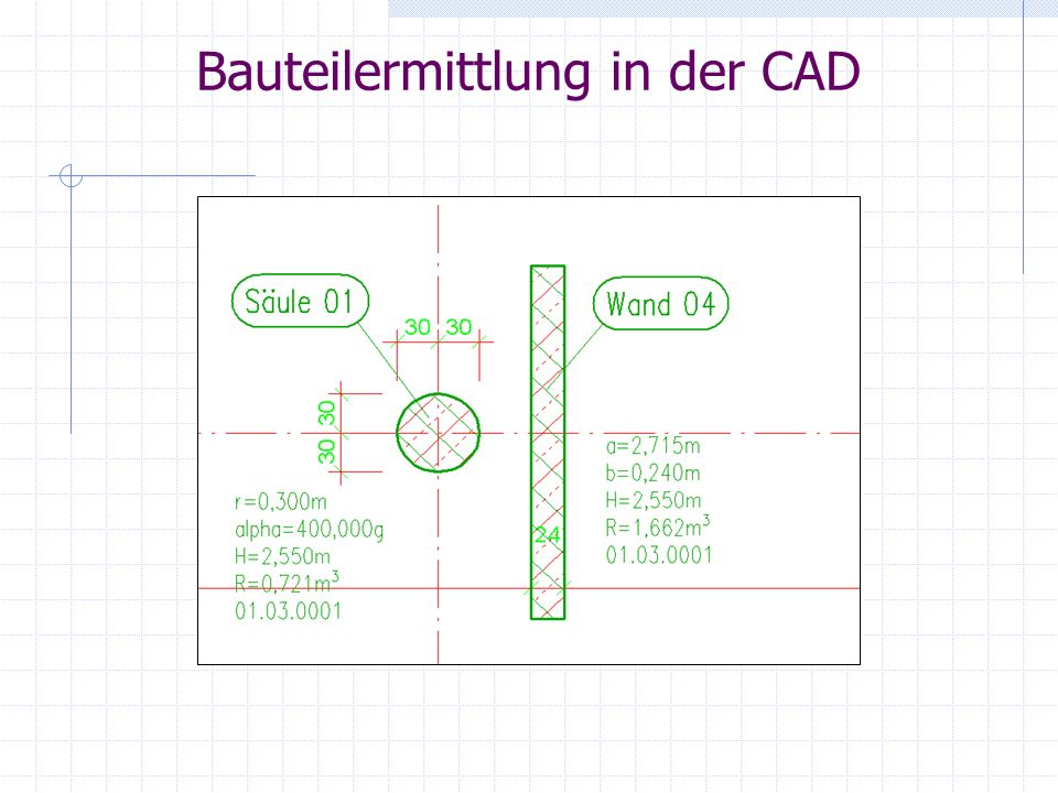 Bauteilermittlung in der CAD