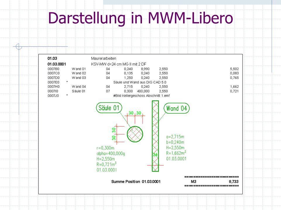 Darstellung in MWM-Libero