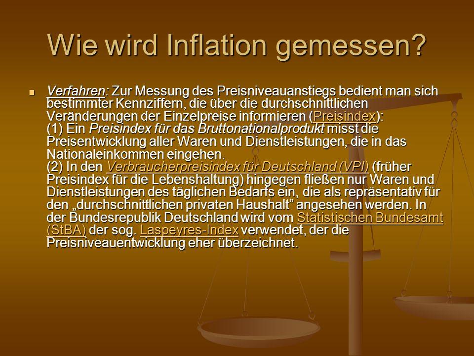 Welche Probleme können sich bei Inflationsmessungen ergeben.
