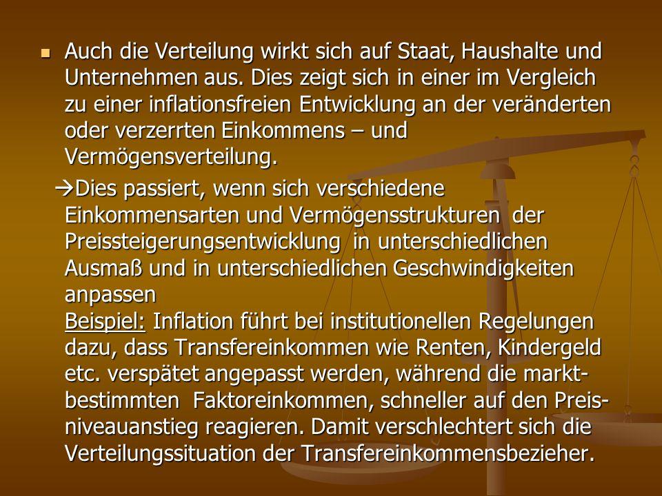 Fazit: Eine geringe Inflation ist gut für eine wirtschaftliche und politische Stabilität Fazit: Eine geringe Inflation ist gut für eine wirtschaftliche und politische Stabilität