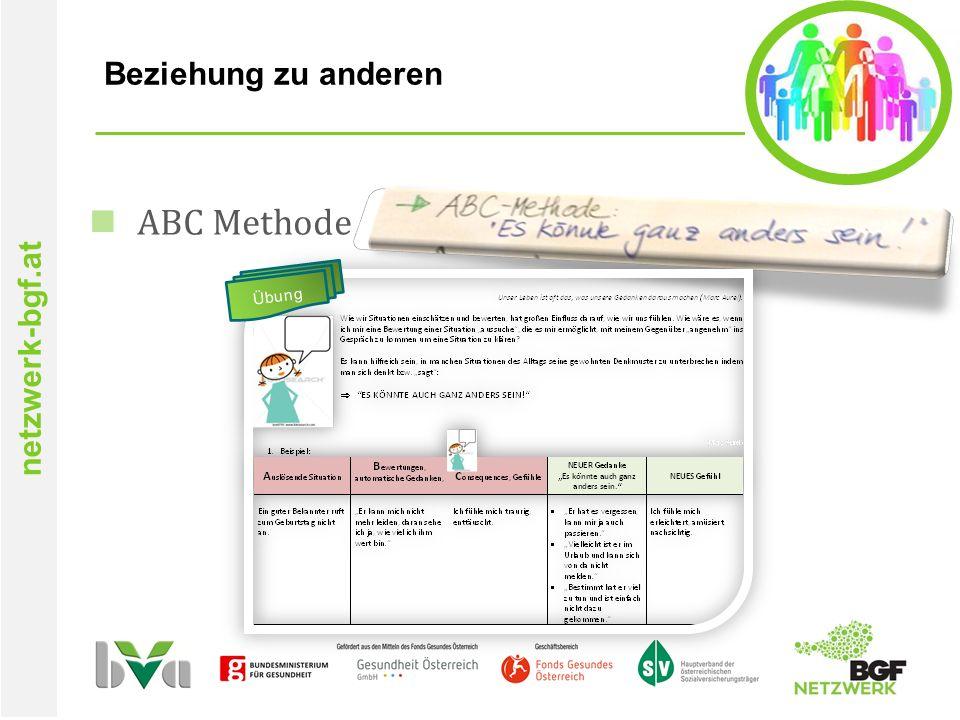 netzwerk-bgf.at Beziehung zu anderen ABC Methode Übung
