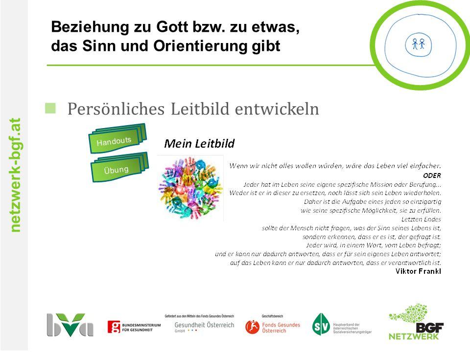 netzwerk-bgf.at Beziehung zu Gott bzw.